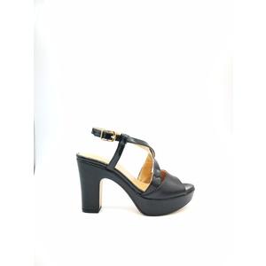 Sandalo Donna Tacco 7 Plateau 3cm Nero Art. 240NE7