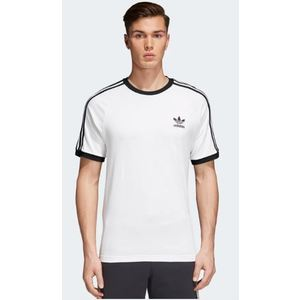 T-Shirt Adidas 3 Stripes Uomo Bianco Nero Art. CW1203
