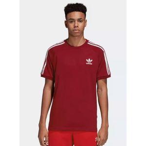 T-Shirt Adidas 3 Stripes Uomo Burgundy Bordò Bianco Art. DH5810