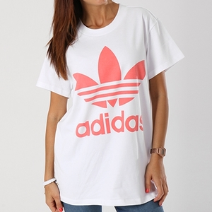 T-Shirt Adidas Big Logo Rosa Bianco Art. DH4429