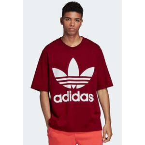 T-Shirt Adidas Big Logo Bianco Bordò Burgundy Oversize Art. DH5841