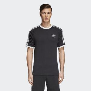 T-Shirt Adidas Nero Stripes Bianco Art. CW1202