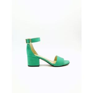 Sandalo Donna Tacco 50 Verde Acqua Art. 3260VA
