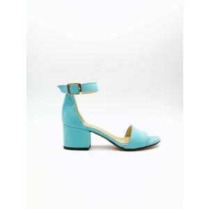 Sandalo Donna Tacco 50 Turchese Art. 3260TU