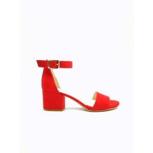Sandalo Donna Tacco 50 Rosso Art. 3260RO