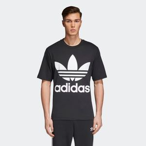 T-Shirt Adidas  Oversized Tee Nero Big Logo Bianco Art. CW1211