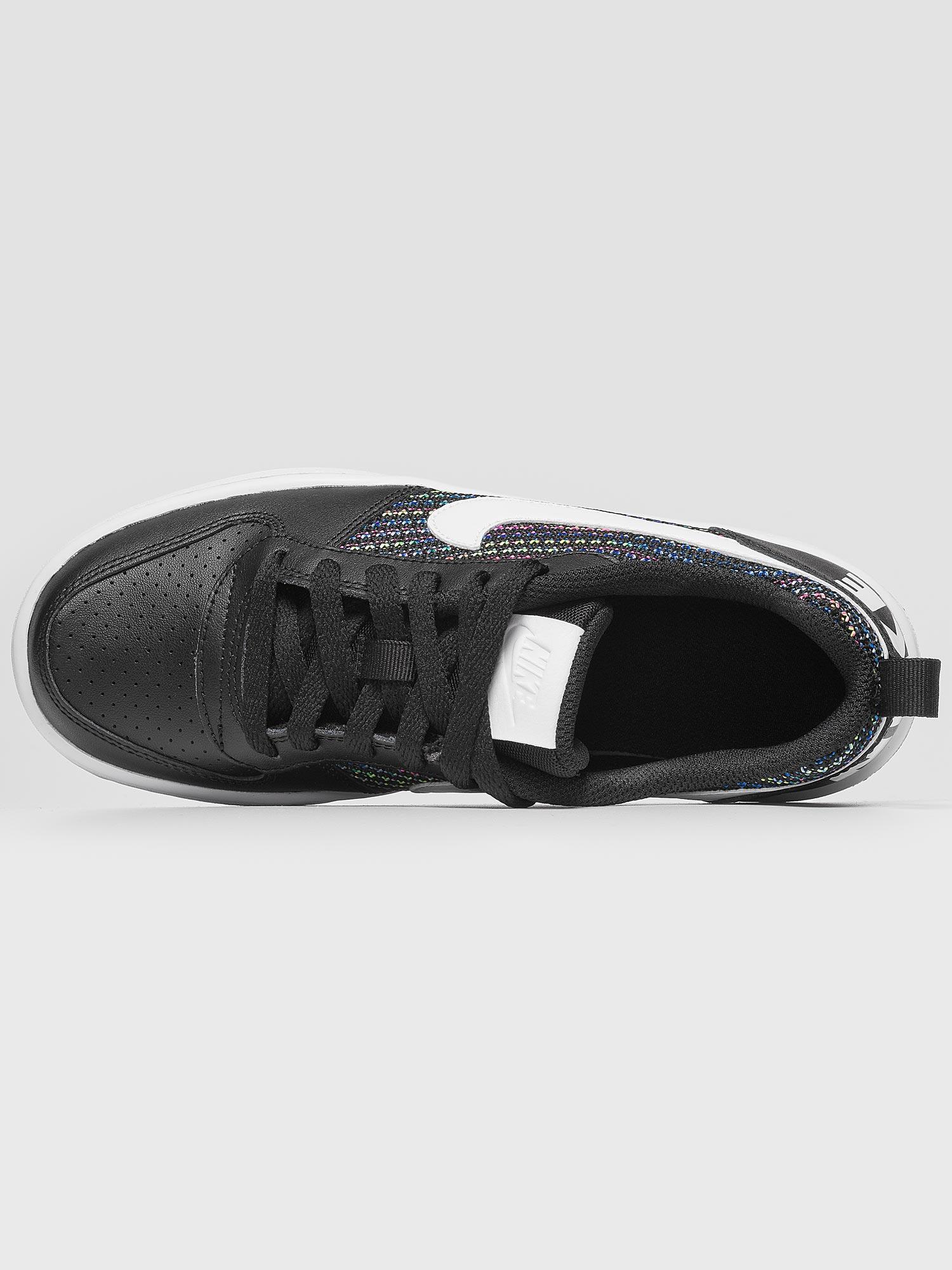 Nike Court Borough Low Se GS Scarpe Sneakers Nero Bianco Multicolor ... 430d9b6f59fd4