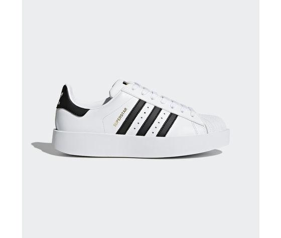 finest selection 8c861 4742d SPEDIZIONE GRATUITA Adidas Superstar Bold Platform W Bianco Nero Art. BA7666