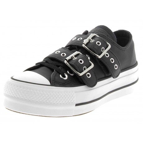 converse leather nere