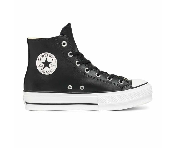 converse all star nere alte pelle