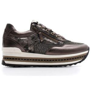 Sneakers NeroGiardini Pelle Laminata Bronzo inserti in tessuto Art. A806600D 500