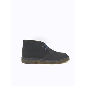 Polacchino Uomo Blu Desert Boot Camoscio Stringata Calzata Comfort