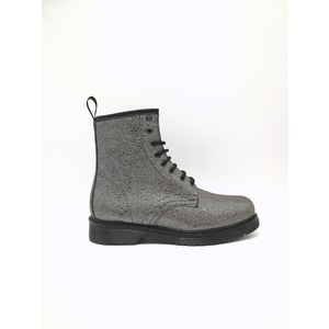 Anfibi Biker Argento Martens Style Made In Italy Art. 500ARKR