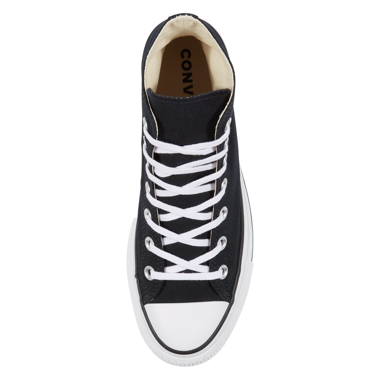 010299b47d converse platform alte 35 Converse All Star Nero Sneakers Platform Alte  Art. 560845C - colbaffo