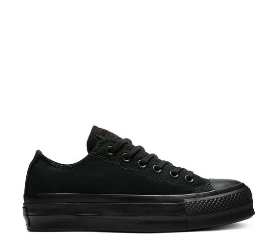 ... Sneaker Alta Tela  Converse Chuck Taylor All Star Clean Lift Low Top  Scarpe Sportive  Converse Total Black  wfvq197f4if2 Donna Converse ... e8e6201547c