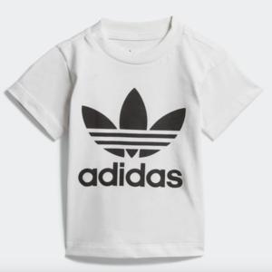 T-Shirt Adidas Bianco Trefoil Tee Bianco Bambini Art. DV2828