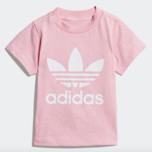 T-Shirt Adidas Rosa Trefoil Tee Rosa Bambini Art. DV2831