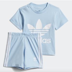 Tuta Adidas Azzurro Completo Trefoil Shorts Tee Azzurro Art. DV2808