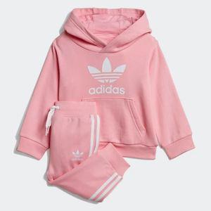 Tuta Adidas Nero Trefoil Hoodie Rosa Art. DV2810