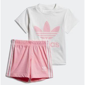 Tuta Completo Adidas Short Tee Bianco / Rosa Art. DV2815