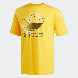 T-Shirt Adidas Giallo con Logo Stilizzato Art. DV3280