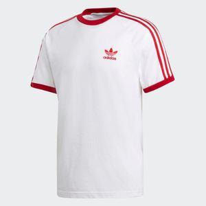 Maglietta Adidas 3 Stripes Bianco / Rosso Art. DY1533