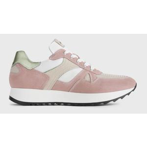 Sneakers NeroGiardini Camoscio e Pelle e Tessuto tecnico Colore Peonia Fondo di 3,5cm Art. P907740D 429