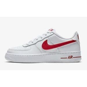 Nike Air Force 1-3 Colore Bianco/Rosso Pelle art. AV6252 101