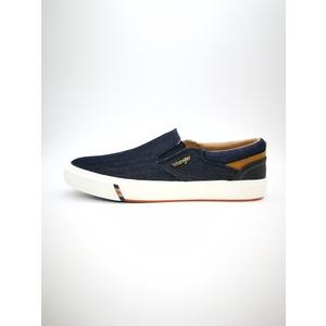 Sneakers Wrangler Colore Blue Jeans Slip On Suola in Gomma art. WM91124A W0653