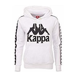 Felpa Kappa bianca con cappuccio donna Enna art. 305031 001