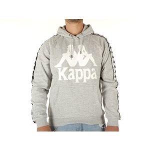 Felpa Kappa grigia logo bianco con cappuccio Ernie uomo art. 305004 18M