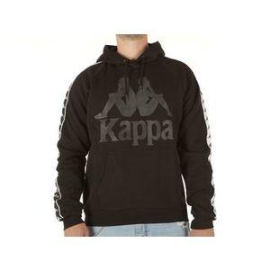 Felpa Kappa nera logo nero con cappuccio Ernie uomo art. 305004 005