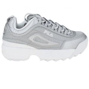 Sneakers Fila donna argento e bianco Disruptor MM Low art. 1010607 3VW