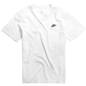 T-Shirt Nike Essential Sportswear Club Maglietta bianca logo nero art. AR4997 101