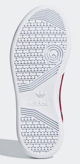 92148b57b Adidas Continental 80 sneakers bambini colore bianco striscia rosso ...