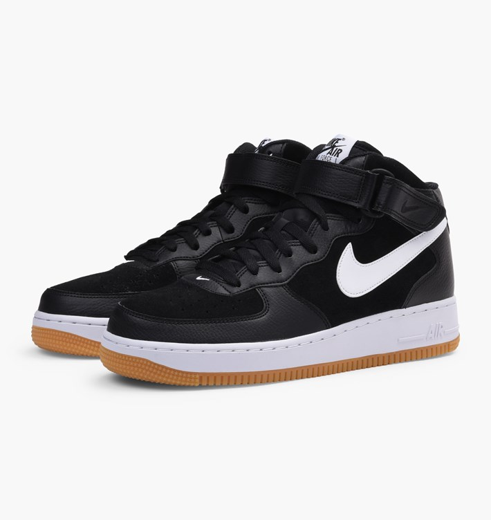 buy popular 6854e e06dc ... Nike air force 1 mid 07 315123 035 black white gum %284%29