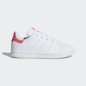 Adidas Stan Smith C Bianco/Rosa Texture tessuto / Glitterato Art. DB1203