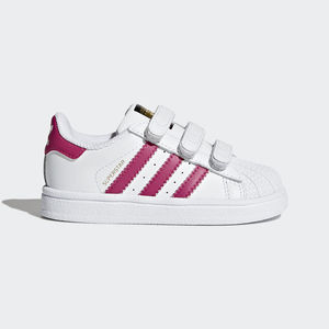 Adidas Superstar Bimba Strappi Bianco / Fucsia Art. BZ0420