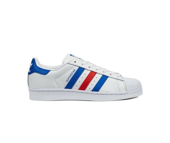 adidas superstar bianco rosso blu