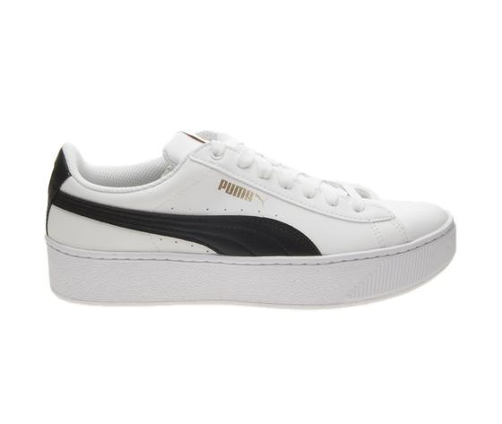 dbdec9619b67 Sneakers Donna Puma Vikky Platform Softfoam Bianco Pelle Scarpe Art ...