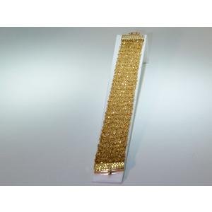 Bracciale in argento dorato lavorazione a maglia