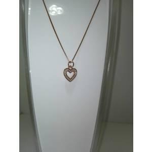 Girocollo argento rodiato cuore