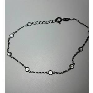 Bracciale argento con zirconi