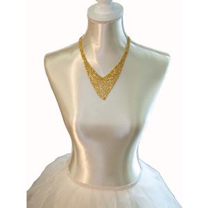 Collana girocollo argento dorato