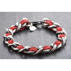 Bracciale Silver Apollo rosso