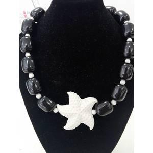 Girocollo con ciondolo stella marina in resina