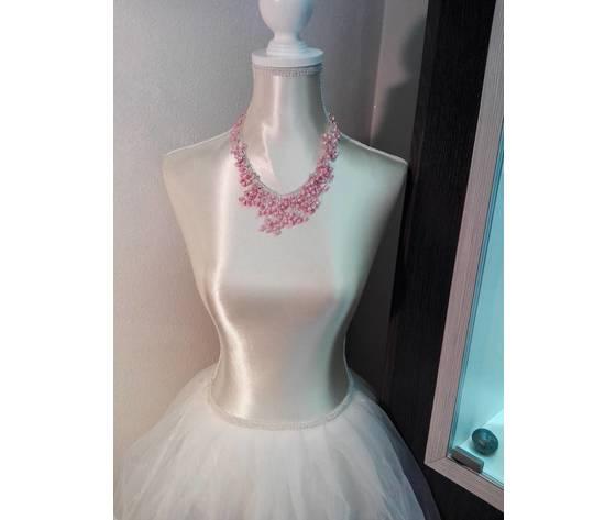 Girocollo perle di fiume colorate rosa