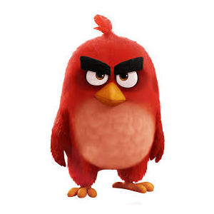 Angry birds peluche riscaldabile