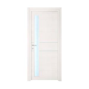 Porta EBE linea 04 vetro - rovere sbiancato