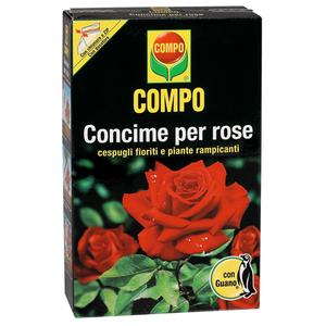 COMPO Concime guano per rose, cespugli fioriti e piante rampicanti 1KG